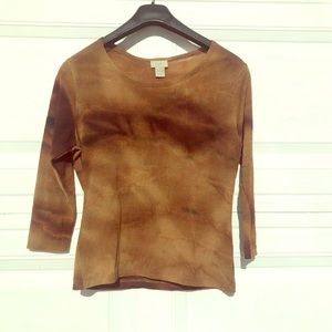 J. Jill Brown/ Tan Size Small Shirt